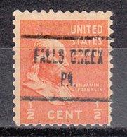 USA Precancel Vorausentwertung Preo, Locals Pennsylvania, Falls Creek 723 - Vereinigte Staaten