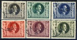 Germania Terzo Reich 1943 UN Serie N. 763-768 Usati Cat € 17 - Gebraucht