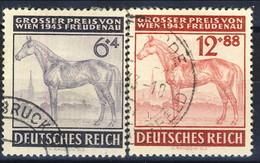Germania Terzo Reich 1943 UN Serie N. 777-778 Usati Cat. € 5,20 - Gebraucht