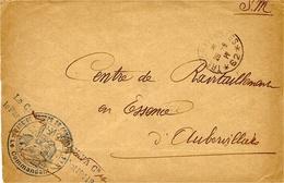 """1917- Enveloppe En F M Du S P 62 + """"  PARC DE GROUPE DE COMBAT N° 115  """" - Marcofilie (Brieven)"""