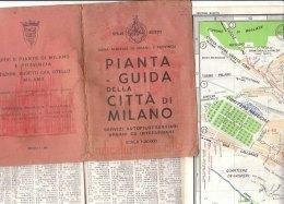 B1914 - PIANTA GUIDA CITTA´ DI MILANO Otello Busetti 1963/LINEE FILOBUS/TRAMWAY - Topographical Maps
