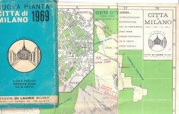 B1915 - PIANTA CITTA´ DI MILANO Ed. Di Lauro 1969/METROPOLITANA/LINEE FILOBUS/TRAMWAY - Topographical Maps