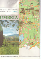 B1929 - CARTA STRADALE GEO-TURISTICA UMBRIA Ed.Panetto E Petrelli 1965 - Carte Stradali