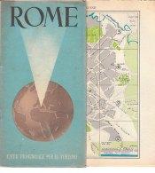 B1936 - GUIDA E MAPPA TOPOGRAFICA EPT 1954 ROMA - Carte Topografiche