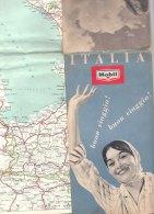 B1950 - CARTINA AUTOMOBILISTICA D'ITALIA MOBIL De Agostini 1958 - Carte Stradali