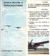 B1951 - Brochure SCUOLA MILITARE DI PARACADUTISMO Ed.Policrom - Books, Magazines  & Catalogs