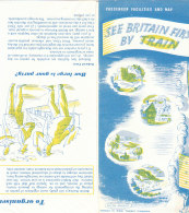 B1954 - CARTA FERROVIA - BRITISH RAILWAYS Ed.1953/MAP/TRENI - Mappe