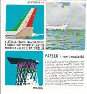 B1960 - AVIAZIONE - SERVIZI ARIA/MARE - Brochure ALITALIA ITALIA NAVIGAZIONE - NAVI MICHELANGELO E RAFFAELLO Anni '70 - Advertenties