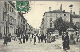 Lunéville    Rue Gambetta  CPA 1909 - Luneville