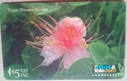 12FJC Flower Series $5 - Fiji