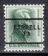 USA Precancel Vorausentwertung Preo, Locals Pennsylvania, Farrell 276 - Vereinigte Staaten