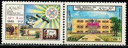 AFH307 Afghanistan 1983 International Communication Year Architectural TV 2V MNH - Afghanistan