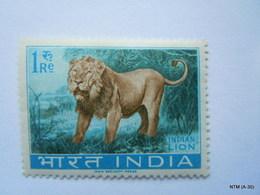 INDIA Year 1963. Wild Life: Indian Lion 1Re SG 476. MNH - Ongebruikt