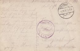 K. Bayr. Feldbäckerei + TàD K.D.Feldpost Du 9.11.17 [FPS 783] Adressée à Regensburg - WW I