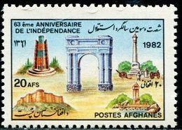 AFH311 Afghanistan 1982 Independence Day Architectural Heritage 1V MNH - Afghanistan