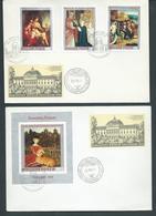 Hungary 1970 Kereszceny Museum Paintings Set 7 & Miniature Sheet On 4 FDC Fine Unaddressed - Hungary