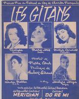 (RG1) LES GITANS , DALIDA , MARIA CANDIDO , MARIE JOSE , Musique HUBERT GIRAUD - Partitions Musicales Anciennes