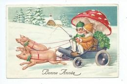 Attelage De Cochons Bonne Année - Año Nuevo