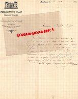 03- MONTLUCON - RARE LETTRE MANUSCRITE SIGNEE PERRIER FRERES & COLLIN-ENTREPRENEURS TRAVAUX PUBLICS-RUE SERRURIERS- 1886 - France