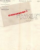 03- MONTLUCON - RARE LETTRE MANUSCRITE SIGNEE PERRIER FRERES & COLLIN-ENTREPRENEURS TRAVAUX PUBLICS-RUE SERRURIERS- 1893 - France