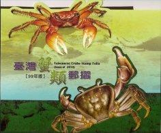 Folio 2010 Taiwan Crabs Stamps Fauna Crab Coastline - Collections, Lots & Series