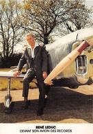 BOUGUENAIS - René LEDUC Devant Son Avion Des Records-Inauguration De L'Extension De L'Aéraport De Chateau-Bougon En 1984 - Bouguenais