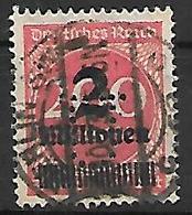 PER446 - GERMANIA REICH - PERFIN 281 - 2 Mn. Su 200 M- CATALOGO UNIFICATO - Gebraucht
