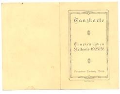 KETTENIS 1925/26 - Tanzkarte - Carnet De Bal - Complet .Liste Des Danses Avec Le Nom De La Cavalière (nod) - Programmi