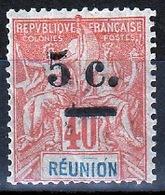 REUNION 1901 - GROUPE SURCHARGE COTE 14 € - RU164 - Reunion Island (1852-1975)