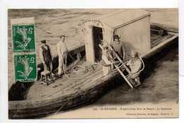 - CPA SAINT-NAZAIRE - Scaphandrier Dans Le Bassin - La Descente (belle Animation) - Collection Delaveau 230 - - Métiers