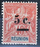 REUNION 1901 - GROUPE SURCHARGE COTE 14 € - RU167 - Reunion Island (1852-1975)