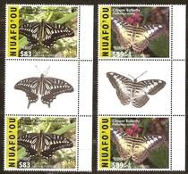 Tonga Niuafo'ou 2016 Yvertn° 403A-403B Gutterpair *** MNH Cote 325,60 Euro Faune Papillons Vlinders Butterflies - Tonga (1970-...)