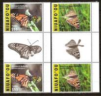 Tonga Niuafo'ou 2016 Yvertn° LP PA 7-8 Gutterpair *** MNH Cote 380 Euro Faune Papillons Vlinders Butterflies - Tonga (1970-...)