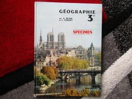 """Géographie """"Classe De 3e"""" (A. Blanc / L. Pernet) éditions Hachette De 1964 - Books, Magazines, Comics"""