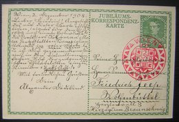 1908 Jubiläus- Korrespondenz Karte Beau Cachet Rouge De Vienne (Wien) - Brieven En Documenten