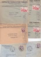 MAROC  LOT DE 7 ENVELOPPES ET FRAGMENTS - Morocco (1956-...)