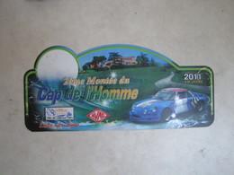 PLAQUE DE RALLYE   2 EME MONTEE DU CAP DE L HOMME 2011 - Plaques De Rallye