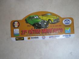 PLAQUE DE RALLYE   27 EME RETRO MEUS AUTO - Rallye (Rally) Plates