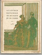 Programme De 1936 Opéra, La Flûte Enchantée De Mozart, Académie Nationale De Musique Et De Danse - Programmi