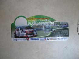 PLAQUE DE RALLYE   11 EME  RALLYE NATIONAL  DIJON COTE D OR - Plaques De Rallye