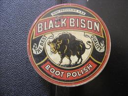 Boite Ancienne Fer CREME BLACK BISON BOOT POLISH CIRAGE 7,5 Diamx2,5 Cm - Boxes