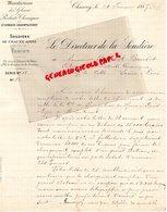 02- CHAUNY -SAINT GOBAIN- CIREY- RARE LETTRE MANUSCRITE SIGNEE 1887- LE DIRECTEUR DE LA SOUDIERE-MANUFACTURES GLACES- - France