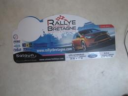 PLAQUE DE RALLYE   RALLYE DE BRETAGNE 2012 - Plaques De Rallye