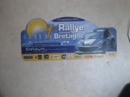 PLAQUE DE RALLYE   1 ER  RALLYE DE BRETAGNE 2011 - Rallye (Rally) Plates