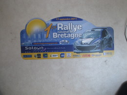 PLAQUE DE RALLYE   1 ER  RALLYE DE BRETAGNE 2011 - Plaques De Rallye