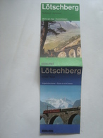 BLS. LÖTSCHBERG. BIRD'S EYE MAP / VOGELSCHAUKARTE / CHARTE À VOL D'OISEAU. BERN-LÖTSCHBERG-SIMPLON-BAHN - 1978. - Dépliants Touristiques