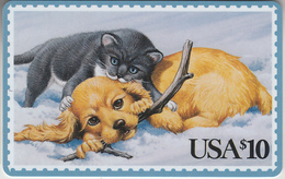USA - PHONE CARD - TAXCARD   ***   POSTAL & ANIMAUX - 10$  *** - United States