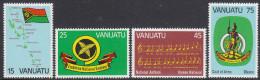 VANUATU, 1981 ANNIVERSARY 4 MNH - Vanuatu (1980-...)