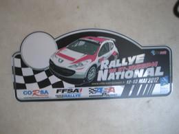 PLAQUE DE RALLYE   RALLYE NATIONAL DE SAINT JOSEPH 2012 - Rallye (Rally) Plates
