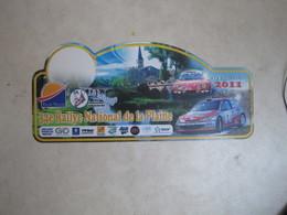 PLAQUE DE RALLYE   34 EME RALLYE NATIONAL DE LA PLAINE - Plaques De Rallye